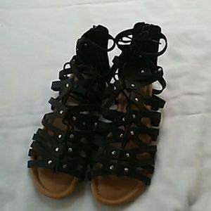Torrid black Gladiator sandals NWOT